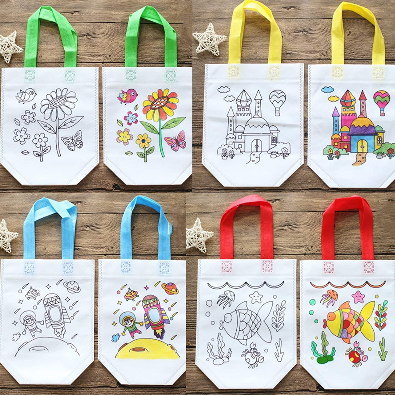 Wistoyz DIY Fabric Bags for Painting for Children