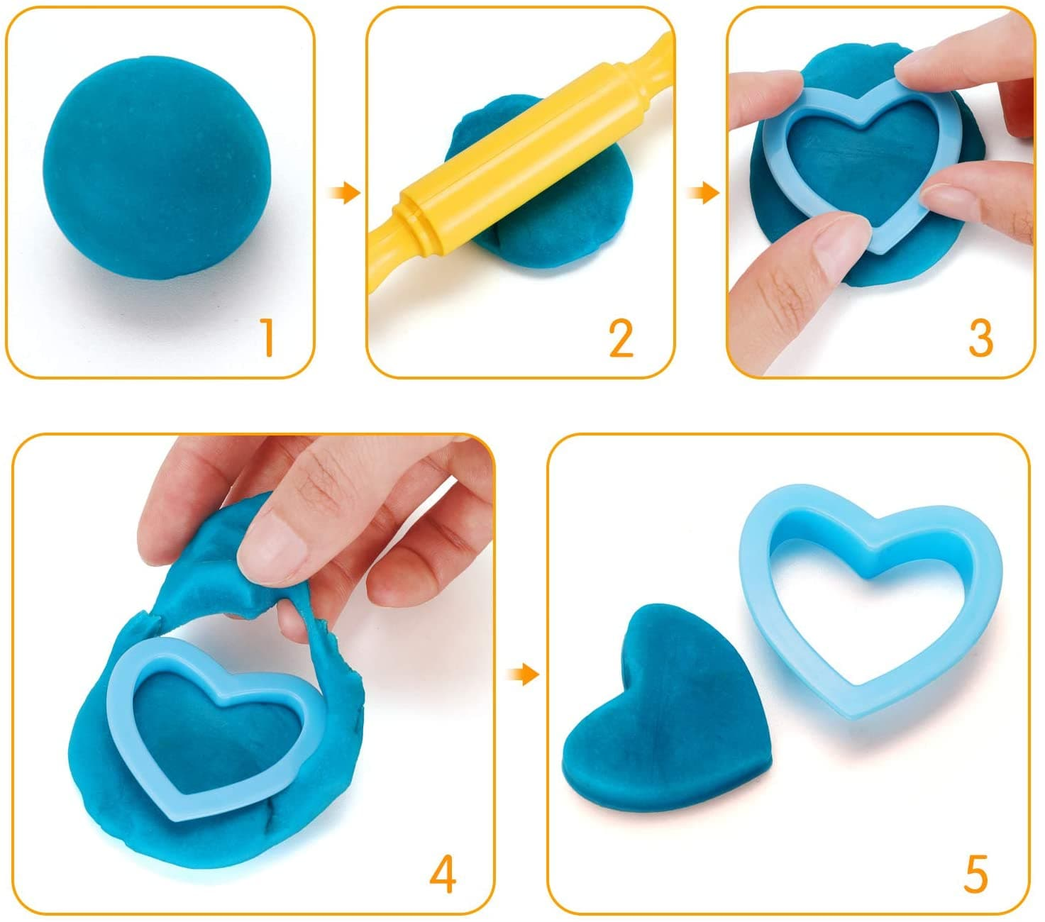 WisToyz Dough Tools Set (20pcs)