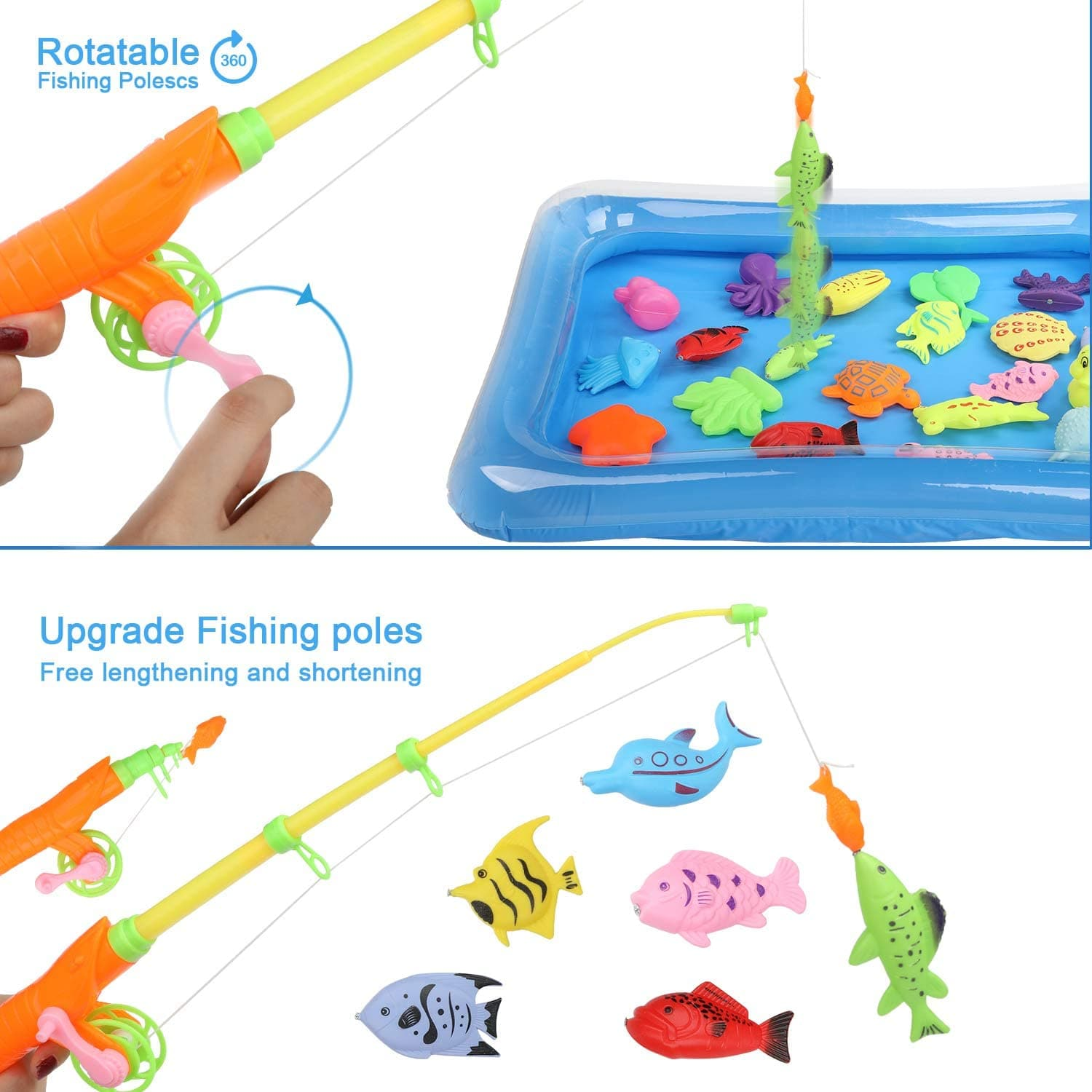 WisToyz Magnetic Fishing Toy (41 PCS)