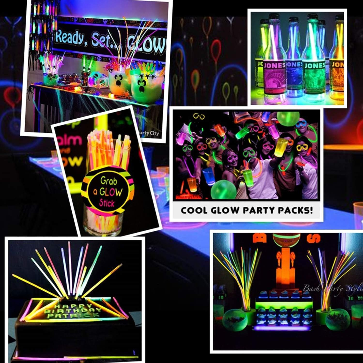 WisToyz Glow Sticks, Glow Stick Party Pack Toys