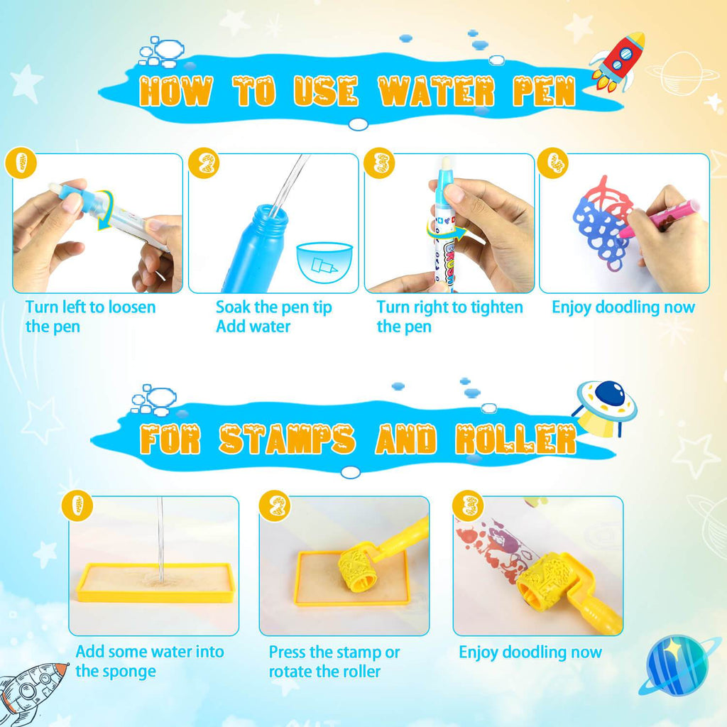 how to use water pen