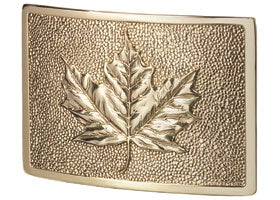 Leaf Plaque in Polished Brass | Gaines Manufacturing, Inc