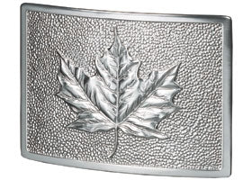 Leaf Plaque in Satin Nickel | Gaines Manufacturing, Inc