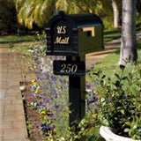 Keystone Black post with address plaque