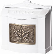 White with Antique Bronze Leaf | Gaines Manufacturing, Inc.