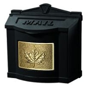WM-3C-XX - Black with Polished Brass Leaf