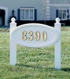 SoftCurve White Plaque on White Posts