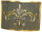 Fleur de Lis Plaque in Antique Brass
