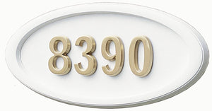 H2-LOWH Large Oval- White with Satin Brass| Gaines Manufacturing, Inc