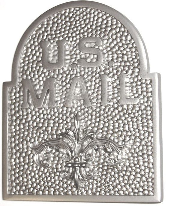 Keystone Fleur de Lis Door Accent in Satin Nickel