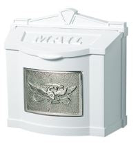 White with Satin Nickel Eagle | Gaines Manufacturing, Inc.