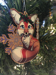 2019 Winter Fox Christmas Ornament