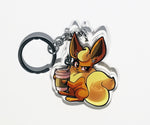 Pokemon Eeveelutions: Coffee Fiends Keychains