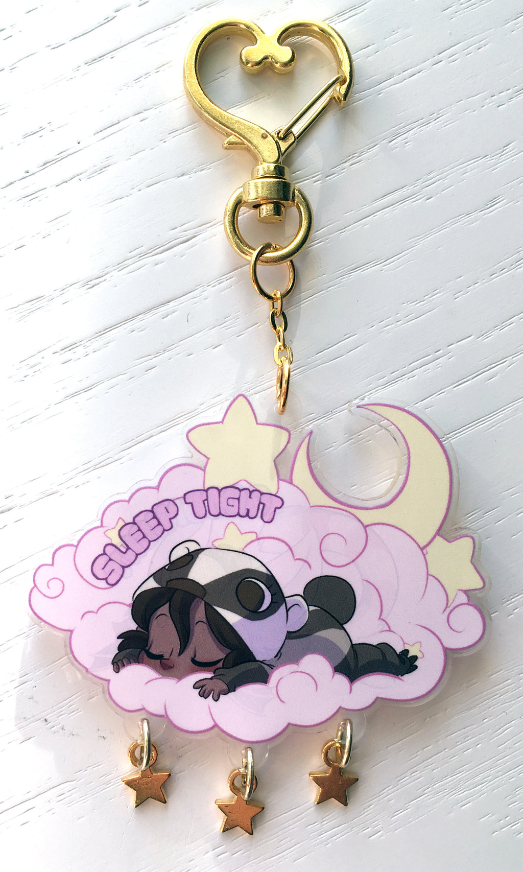 Goodnight/Sleep Tight Double-Sided Acrylic Keychain