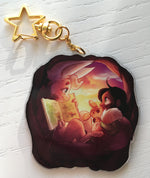 Bedtime Stories Double-Sided Acrylic Keychain