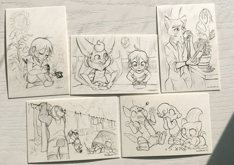 Tamberlane Sketch Card Set
