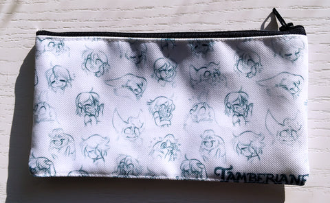 Tamberlane Sketched Emotions Zipper Pouch