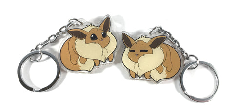 Chubby Pokèmon Pokèbean Double-Sided Keychains