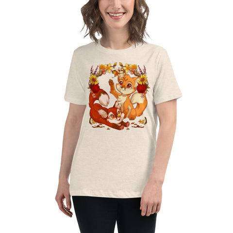 Autumn Foxes Women's T-Shirt