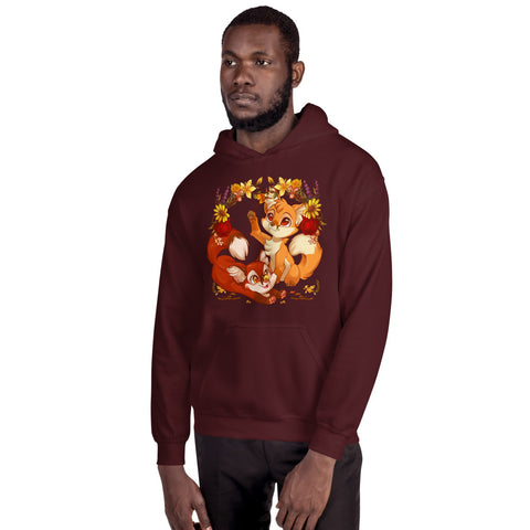 Autumn Foxes Hooded Sweatshirt