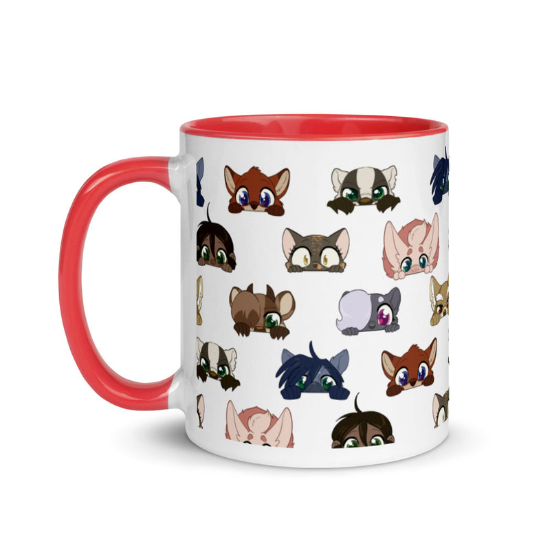 Peeking Profiles Colorful Mug