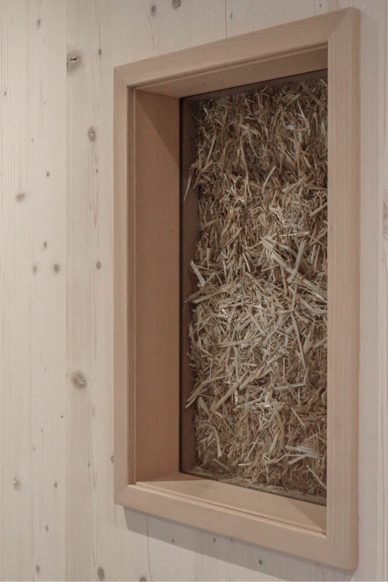 Straw windows Wooden house ecological insulation