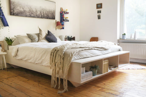 ecologically designed bedroom