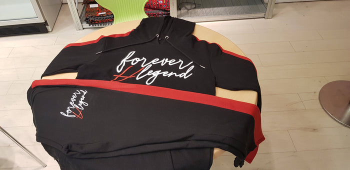 Forever A Legend Unisex Tracksuit (RED) - The Brand Base