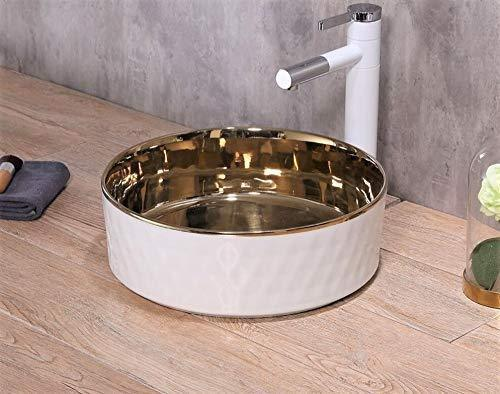 Ceramic Above Counter Porcelain Vessel Sink Counter Top Vessel Vanity Sink Basin Wash Bowl 36 X 36 X 12 Cm - InArt Store