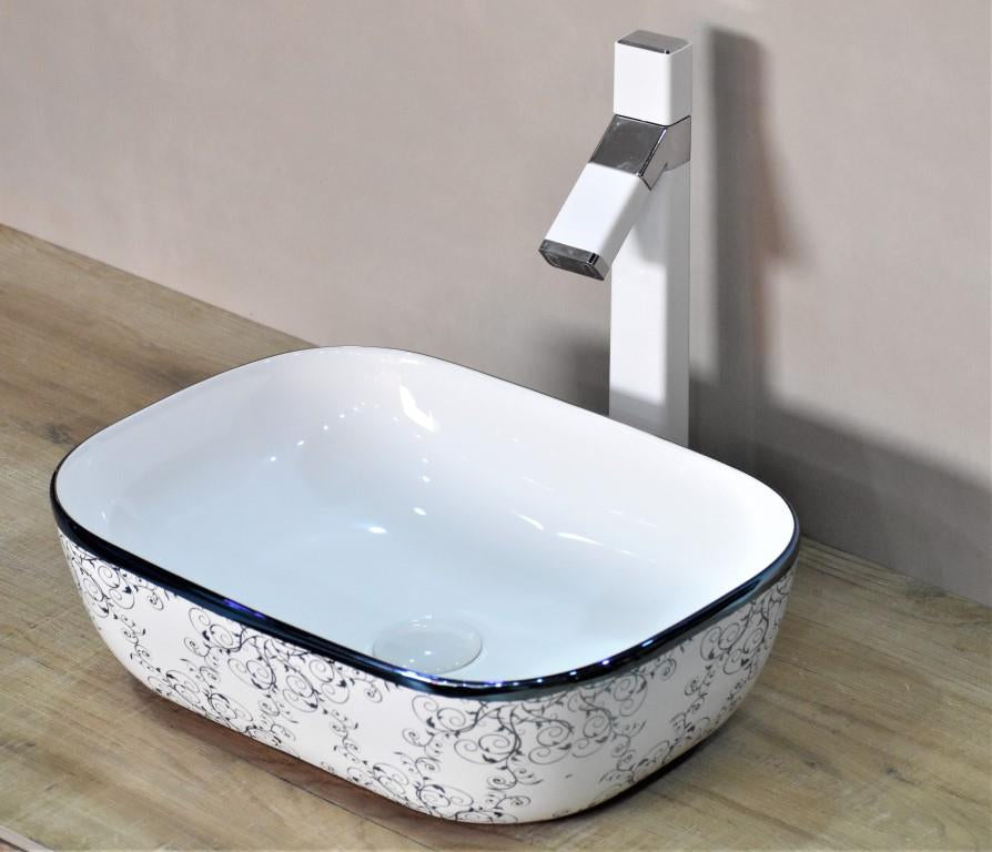 blue counter top lavabo wash basin vessel sink above counter cloakroom sink