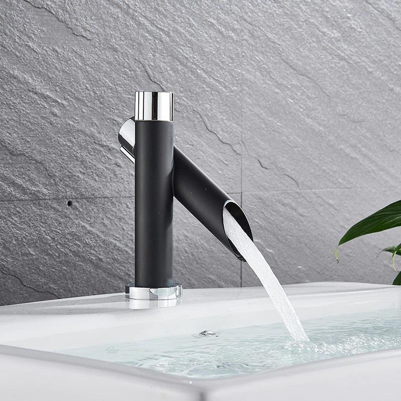 Lavatory Bathroom Sink Faucet In Bamboo Shape Single Handle One Hole Vessel Sink Faucet Deck Mount Sink Faucet In Black Matte Finish