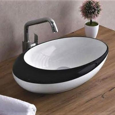 Ceramic Above Counter Porcelain Vessel Sink Counter Top Vessel Vanity Sink Basin Wash Bowl 49 X 32 X 14 Cm - InArt Store