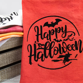 Happy Halloween Moon - Hand & Tie Dyed