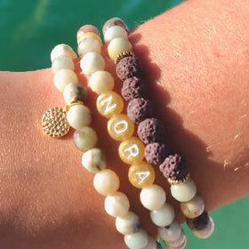"""SOOTHE ME"" Amazonite Trio with name"