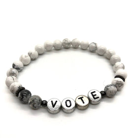 """CALM ME"" Vote Stretch Bracelet"