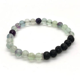 """FOCUSED ME"" Fluorite Diffuser Bracelet"