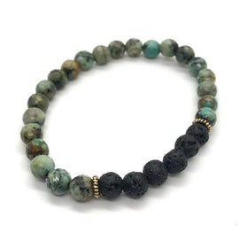 """CHANGE ME"" African Turquoise Diffuser Bracelet"