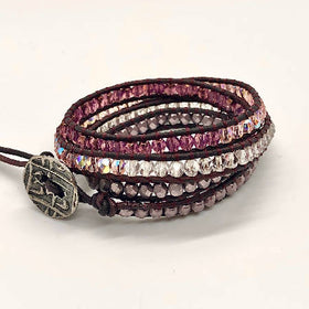"""MAUVELESS ME"" Quad Leather Wrap"