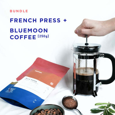 Bundle: French Press + Coffee - Forest Cloud