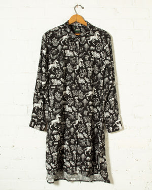 Freak of Nature Shirt Dress Black