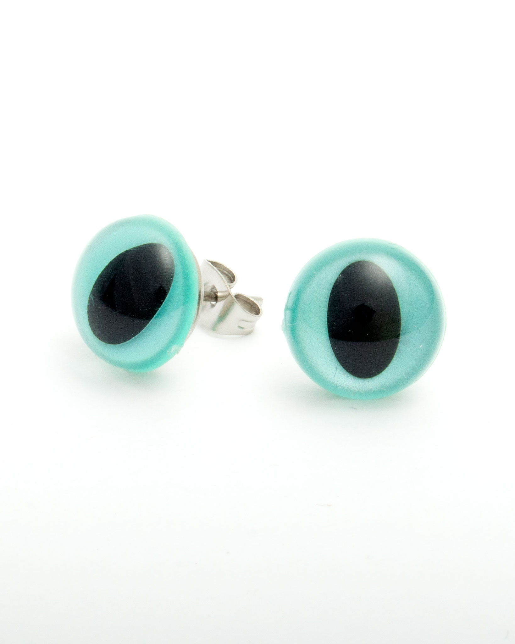Blue Pearlescent Eye Earrings