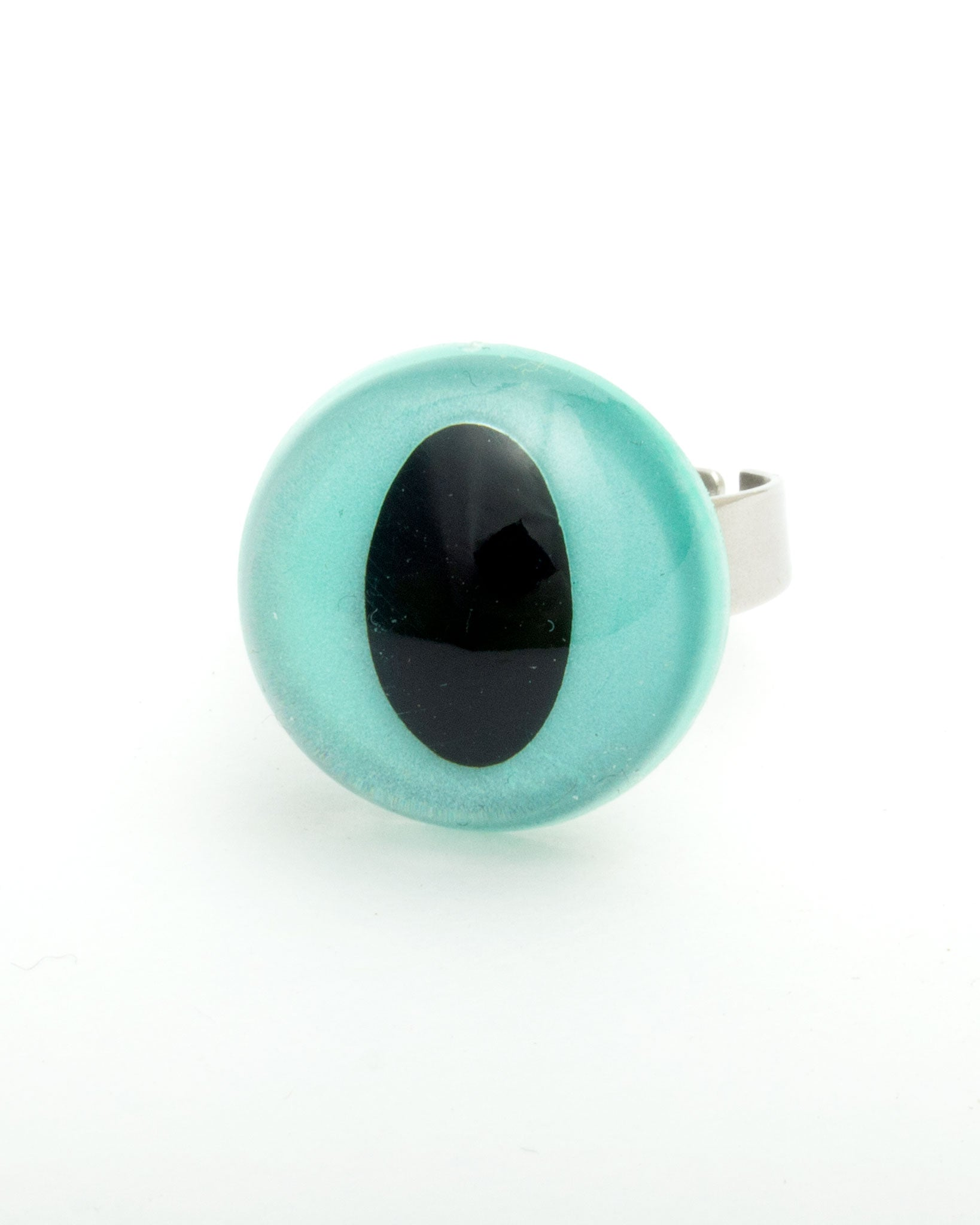 Blue Pearlescent Cat Eye Ring