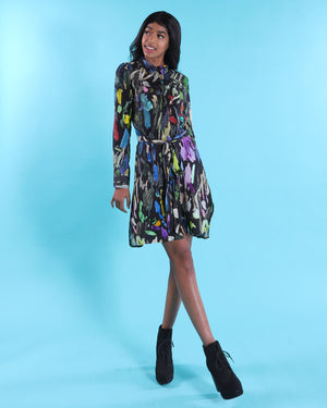 Brush Stroke Shirt Dress