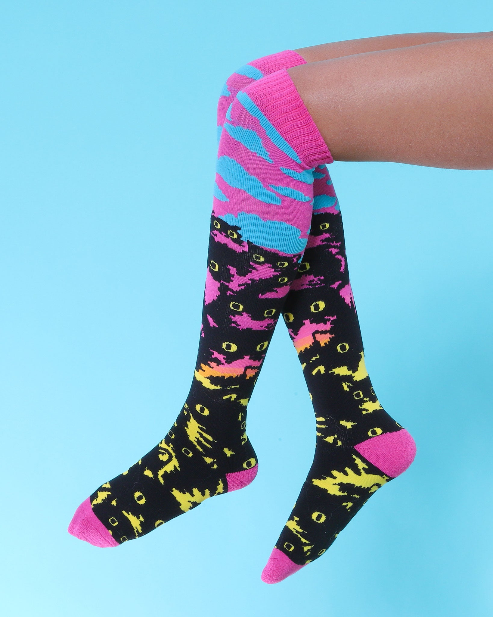 Crazy Kitty Cloud Socks