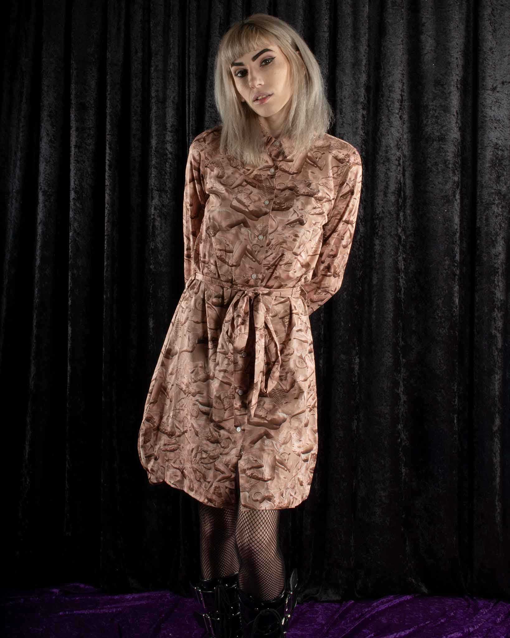 Copper Fossilized Shirt Dress