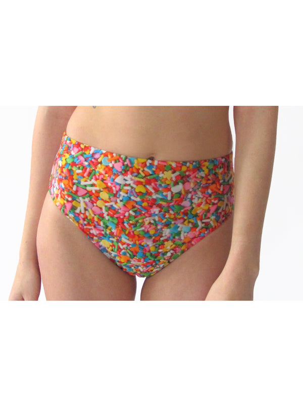 Sprinkles High Waisted Swim Bottom PRETTY SNAKE