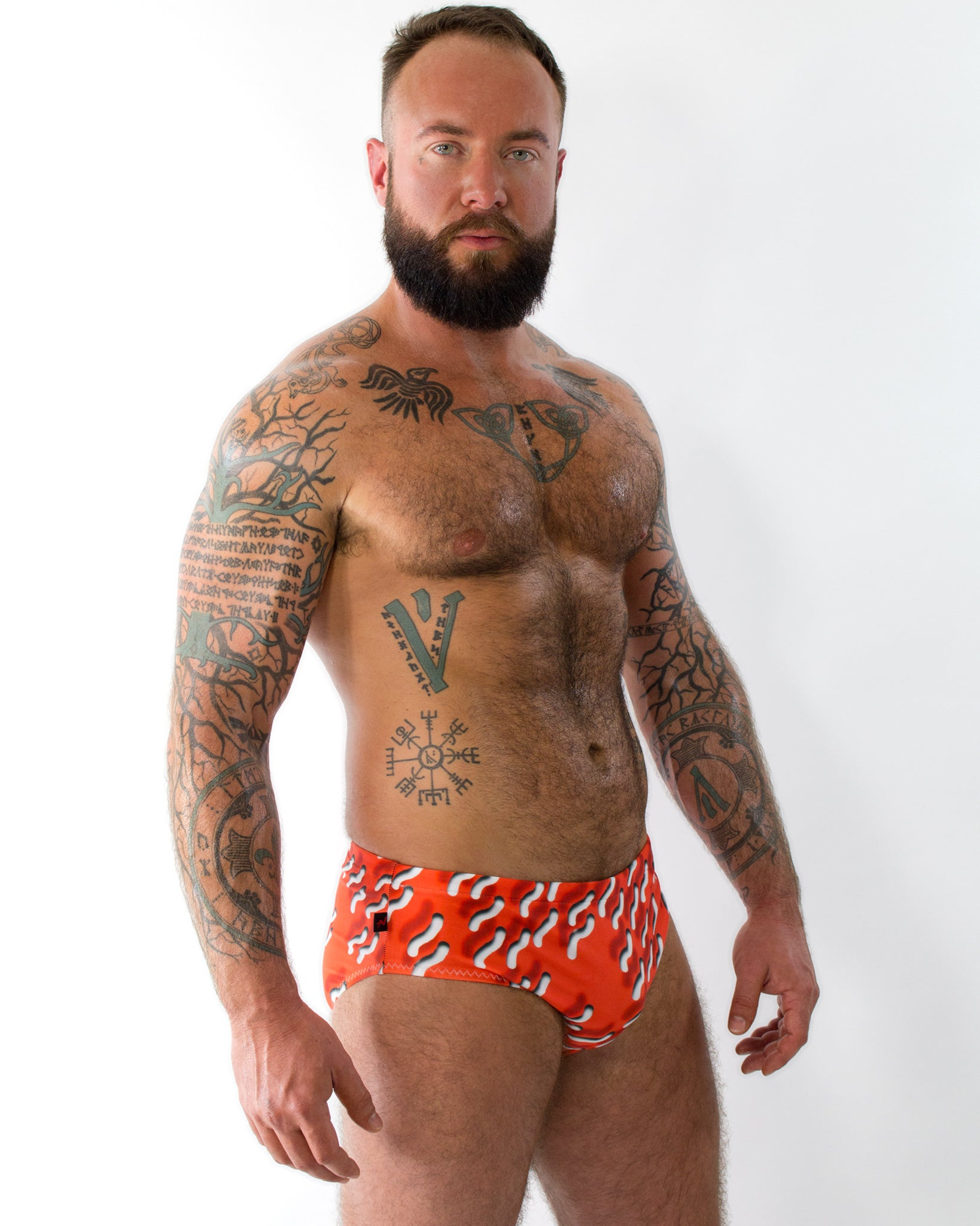 Red Squiggle Swim Brief