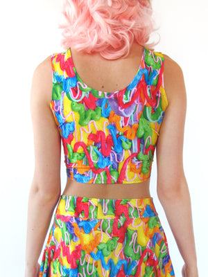 Drippy Frosting Crop Top