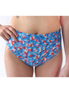 Blue Frosting High Waisted Swim Bottom