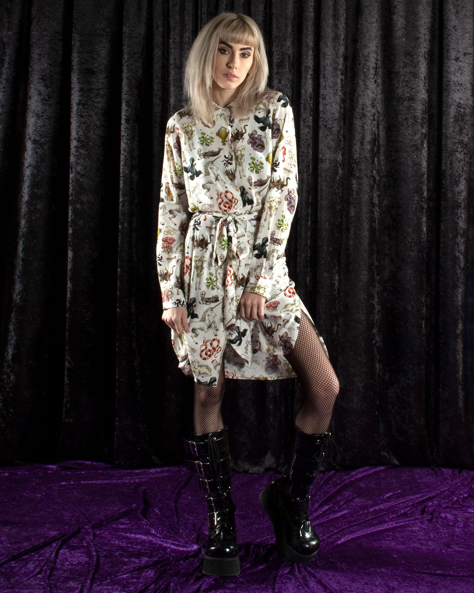 Freak of Nature Shirt Dress White